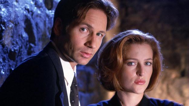 David Duchovny jako Fox Mulder i Gillian Anderson, czyli Dana Scully /Polsat