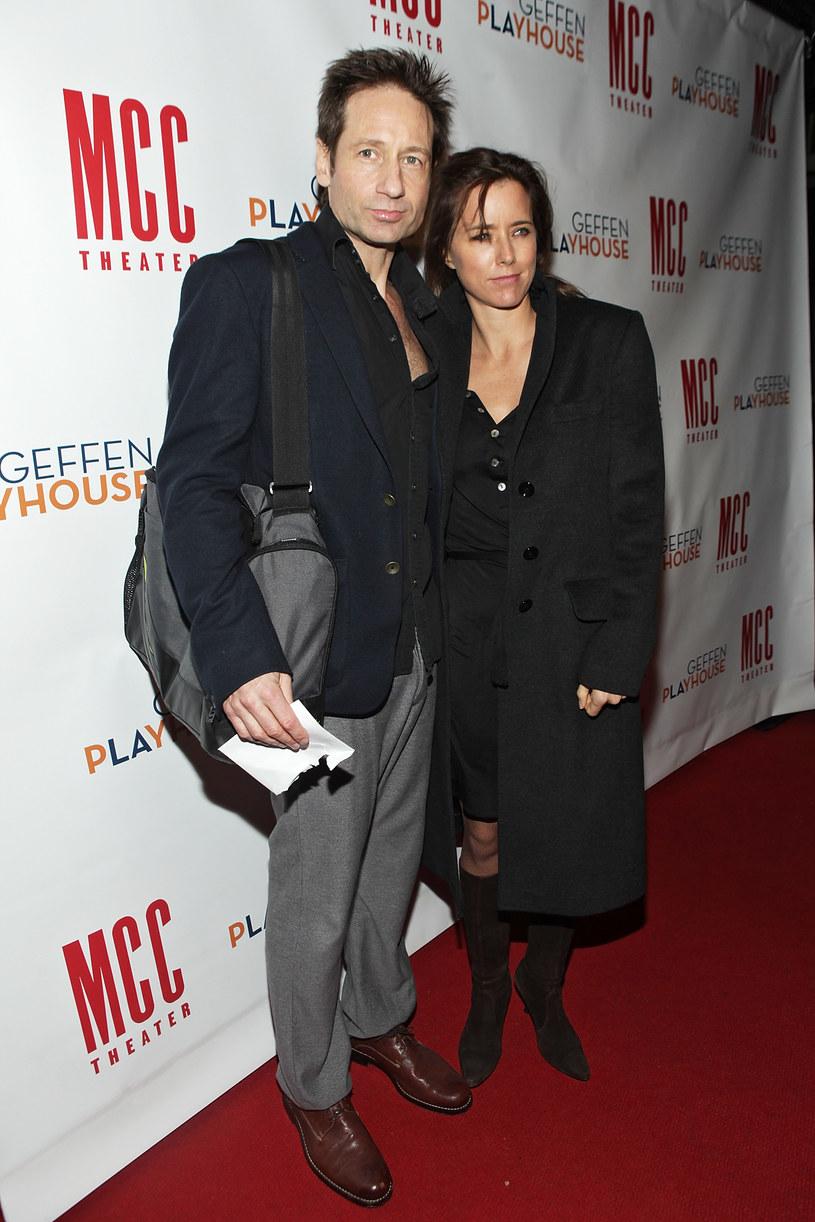 David Duchovny z byłą żoną, Teą Leoni /Roger Kisby /Getty Images