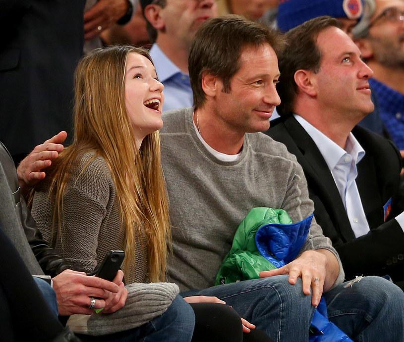 David Duchovny z córką /Elsa /Getty Images