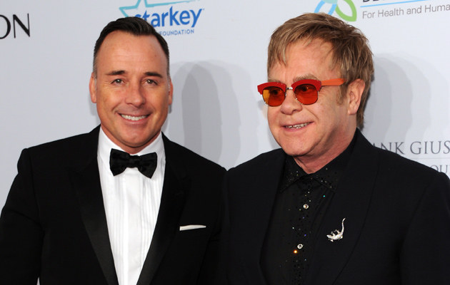 David Furnish, Elton John /Dimitrios Kambouris /Getty Images