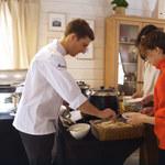 David Gaboriaud przygotowuje śniadanie