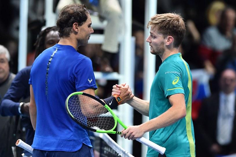David Goffin (z prawej) i Rafael Nadal /AFP