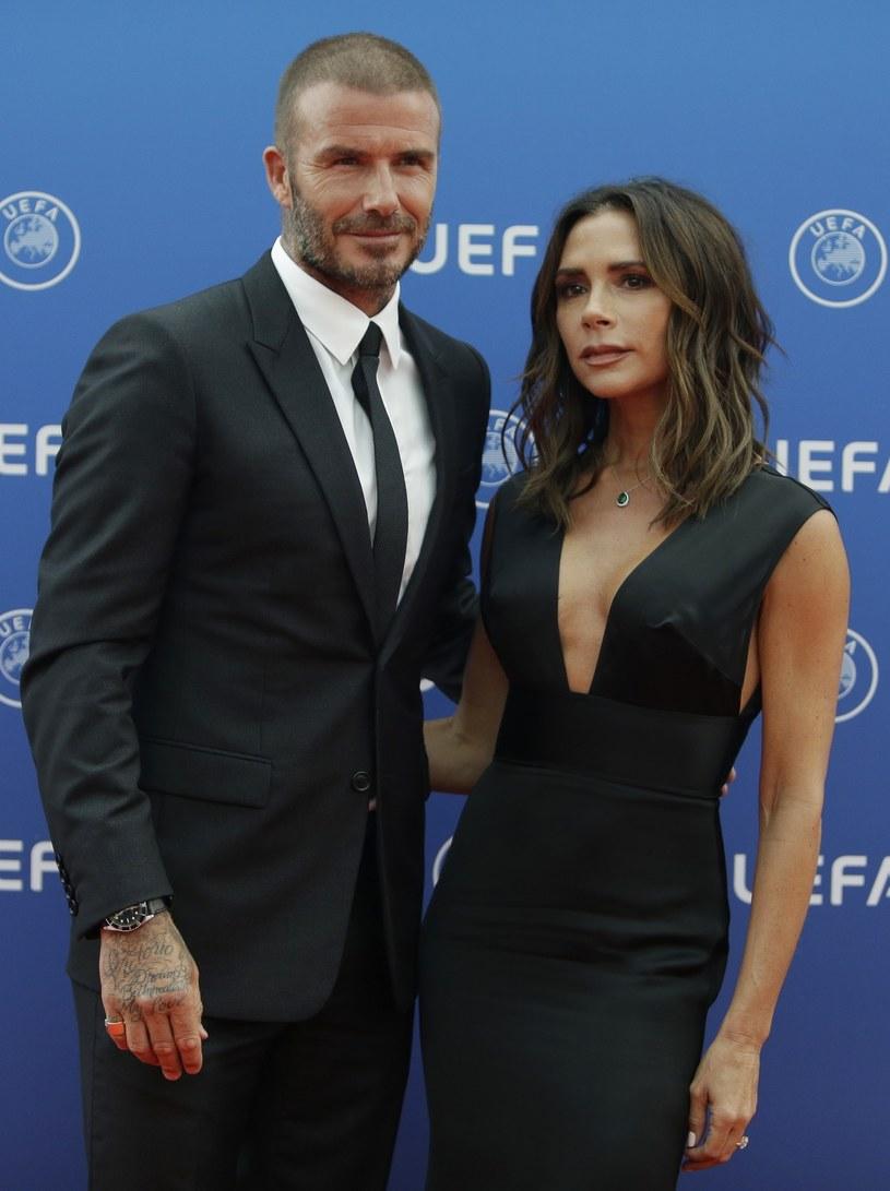 David i Victoria Beckhamowie /East News