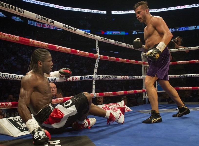 David Lemieux (z prawej) w pojedynku z Hassanem N'Damem /AFP