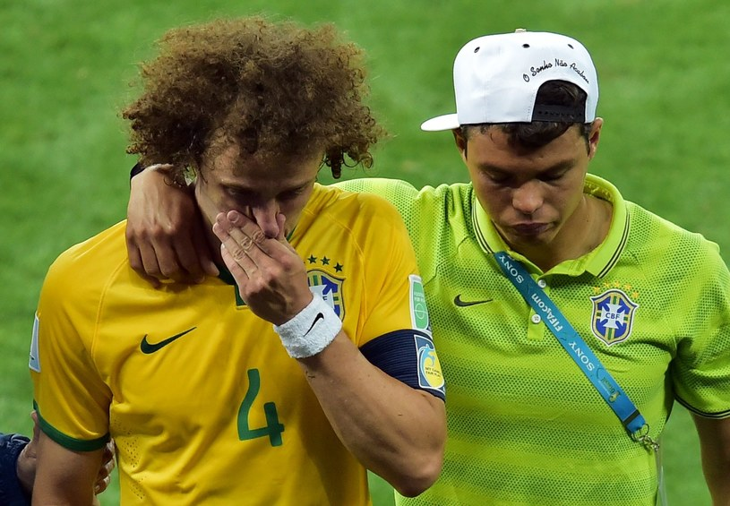 David Luiz i Thiago Silva po klęsce z Niemcami /AFP