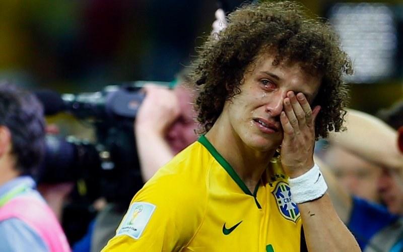 David Luiz po porażce w półfinale MŚ z Niemcami /AFP