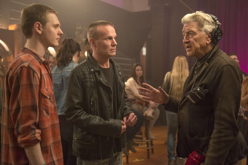 """David Lynch na planie nowego """"Twin Peaks"""" /materiały prasowe"""