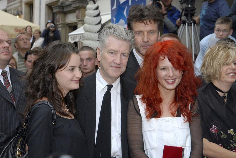 David Lynch z Karoliną Gruszką w Gdańsku, 2007 roku /Kurnikowski /AKPA