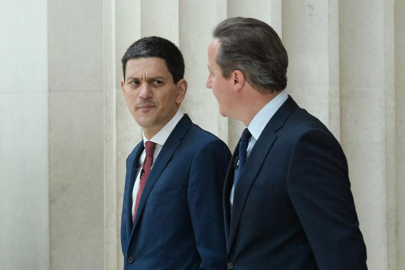 David Miliband i David Cameron /LEON NEAL / POOL /AFP