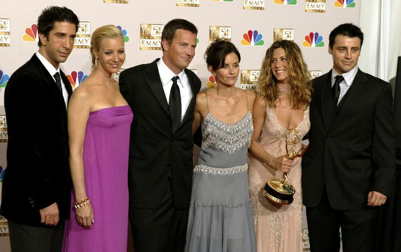 David Schwimmer, Lisa Kudrow, Matthew Perry, Courteney Cox, Jennifer Aniston, Matt LeBlanc /REUTERS/Mike Blake /Agencja FORUM