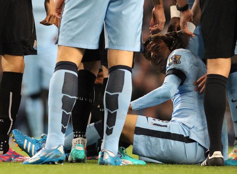 David Silva kontuzjowany podczas meczu z Newcastle /AFP