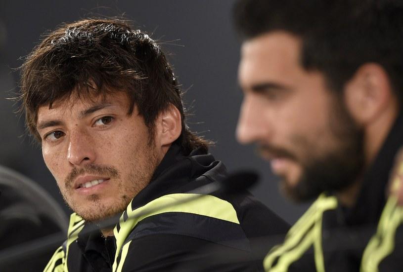 David Silva (z lewej) i Raul Albiol /AFP