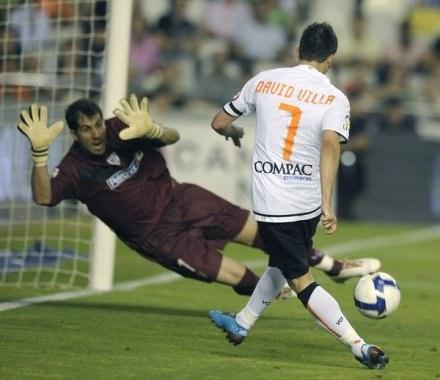 David Villa chce strzelać takie bramki dla Realu /AFP