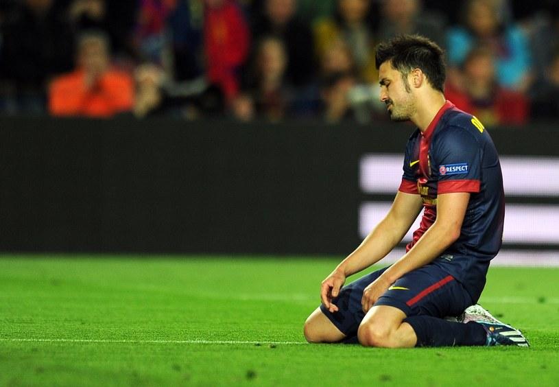 David Villa na kolanach. Bayern upokorzył Barcelonę w półfinale Ligi Mistrzów /AFP