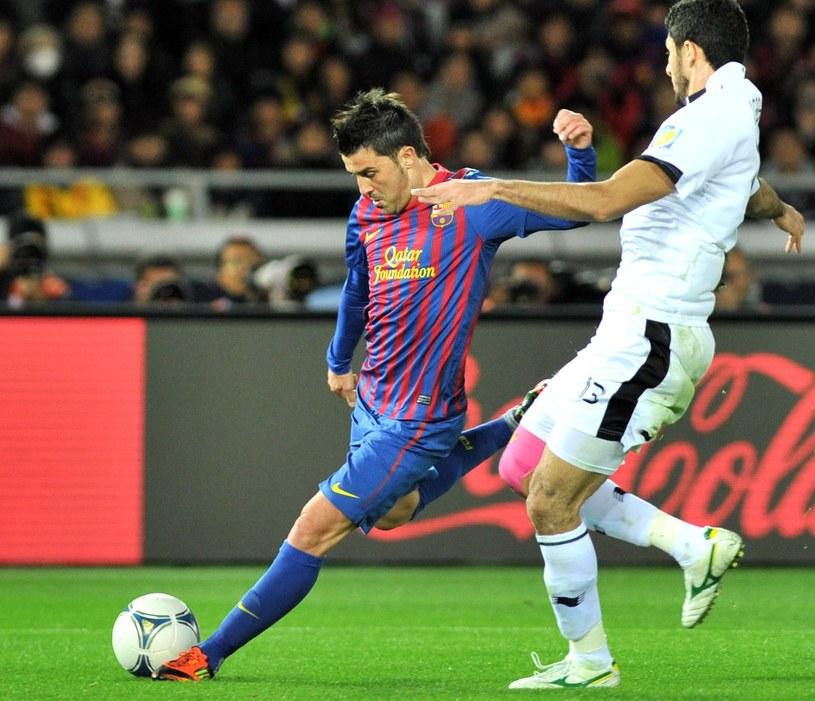 David Villa (z lewej) zagrał w sobotę pierwszy raz od grudnia /AFP