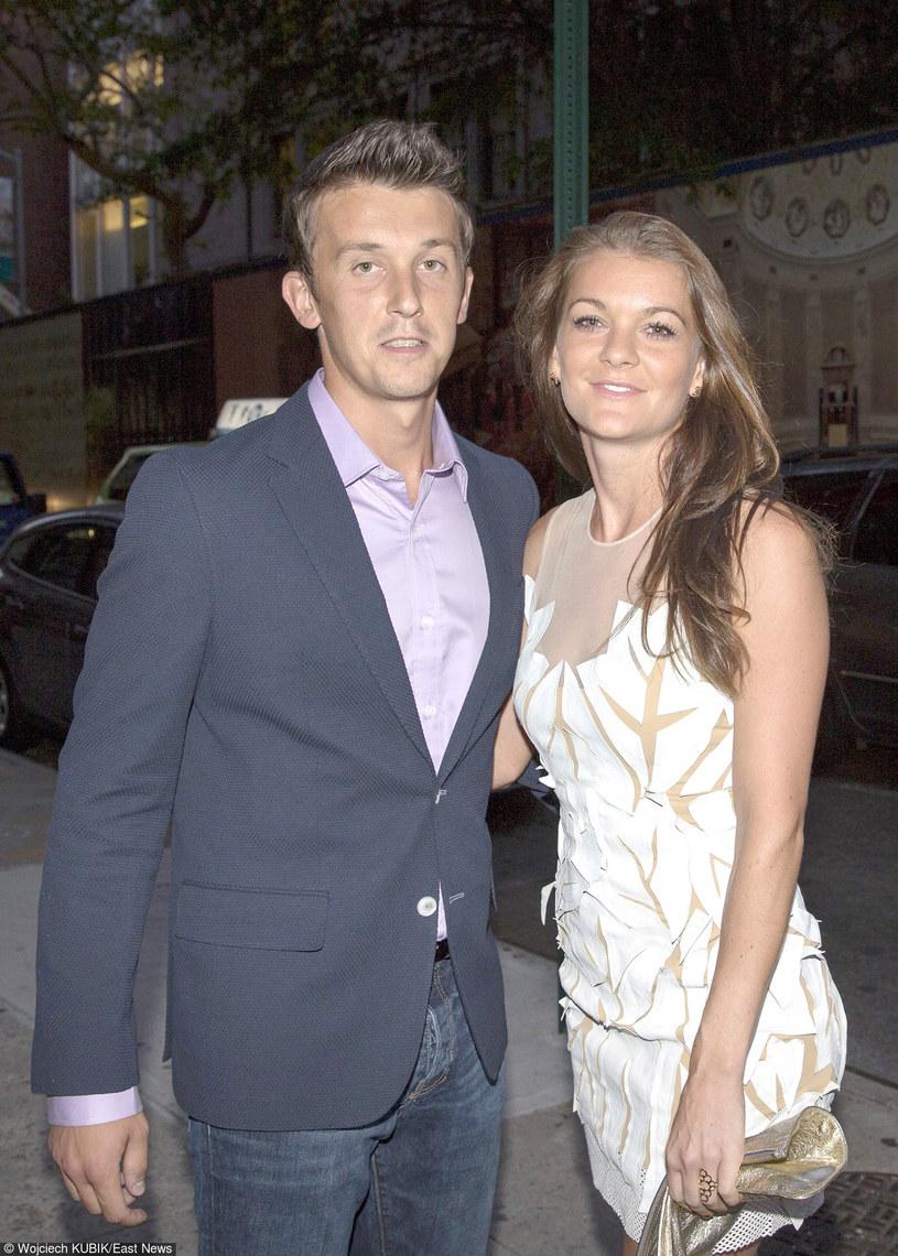 Dawid Celt i Agnieszka Radwańska /Wojciech Kubik /East News
