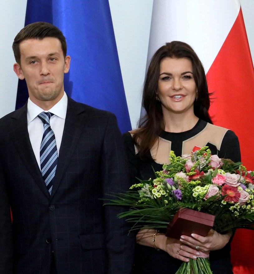 Dawid Celt i Agnieszka Radwańska /Piotr Molecki /East News