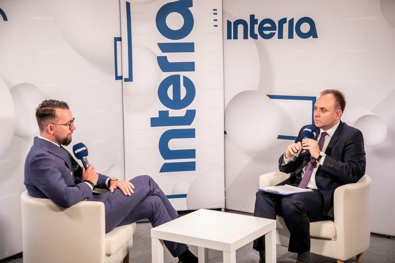 Dawid Jakubowicz, prezes Ciechu w studiu Interii /Fot. Ireneusz Rek /INTERIA.PL