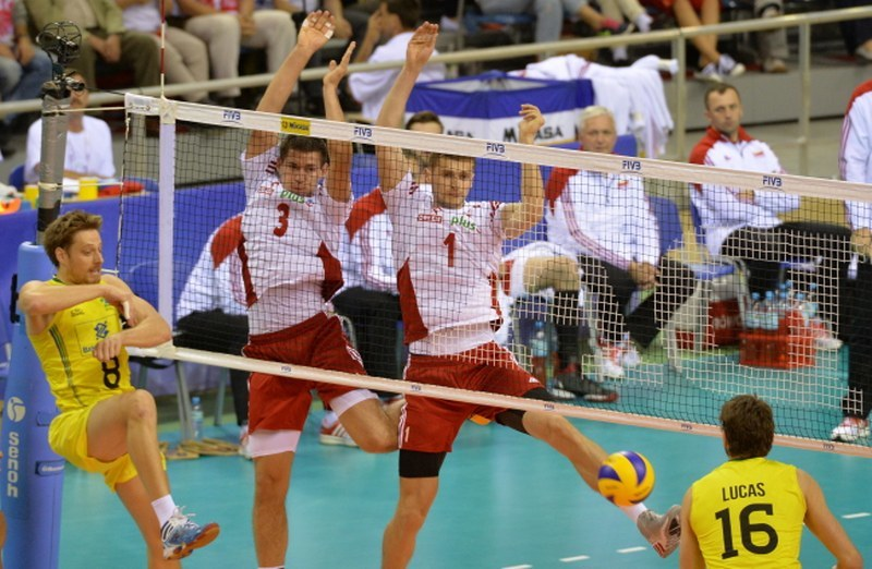 Dawid Konarski, Piotr Nowakowski, Murilo Endres i Lucas Saatkamp /PAP/Jacek Bednarczyk /PAP