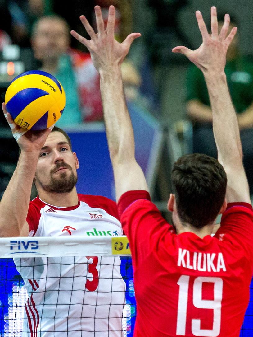 Dawid Konarski w meczu z Rosją /Fot. Andrzej Grygiel /PAP
