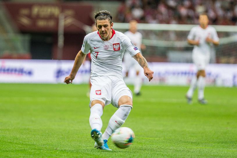 Dawid Kownacki podczas meczu Polska - Austria /Michał Chwieduk /Newspix