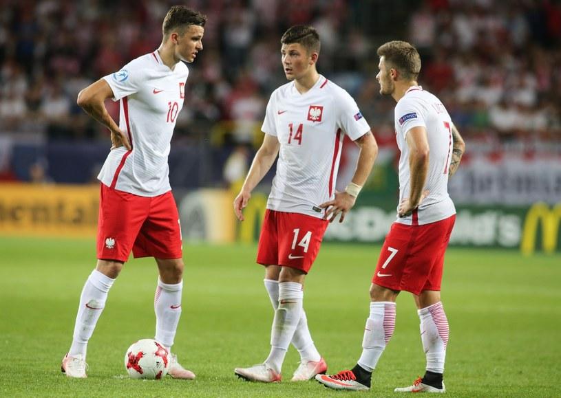Dawid Kownacki (w środku) ponownie zagra w jednym klubie z Karolem Linettym (z prawej) /Tomasz Jędrzejowski /East News