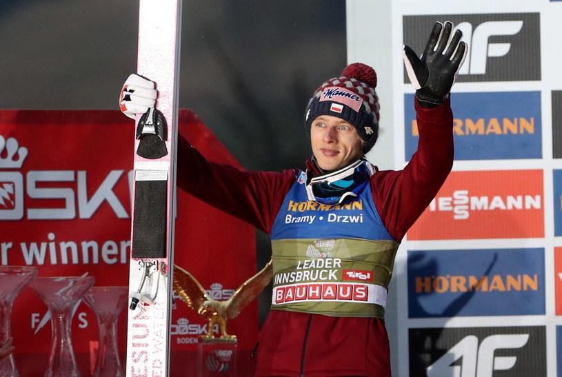 Dawid Kubacki na podium w Innsbrucku / Grzegorz Momot    /PAP
