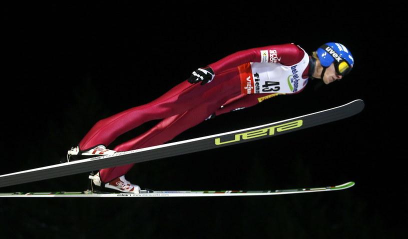 Dawid Kubacki na skoczni w Predazzo /Grzegorz Momot /PAP