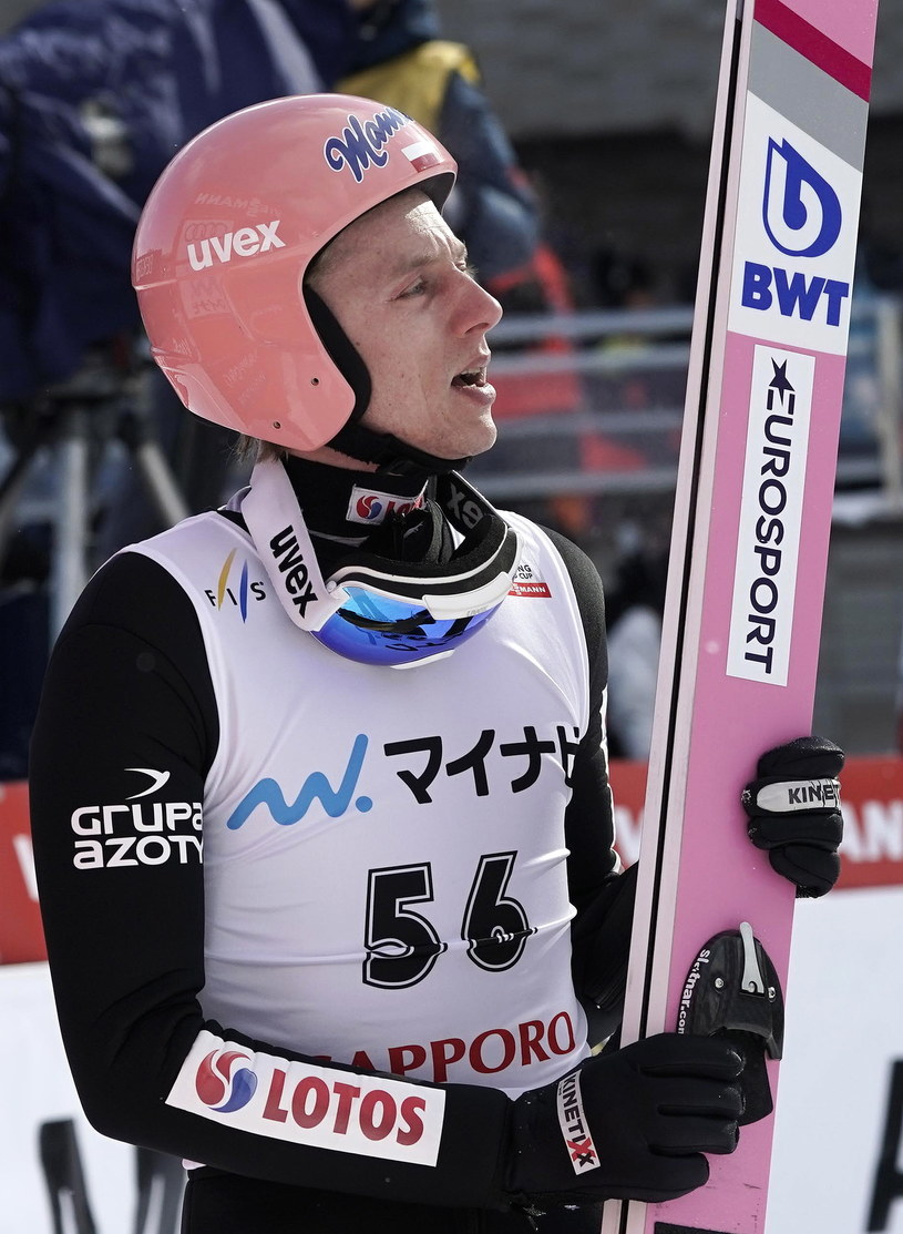 Dawid Kubacki na skoczni w Sapporo /PAP/EPA/Kimimasa Mayama /PAP