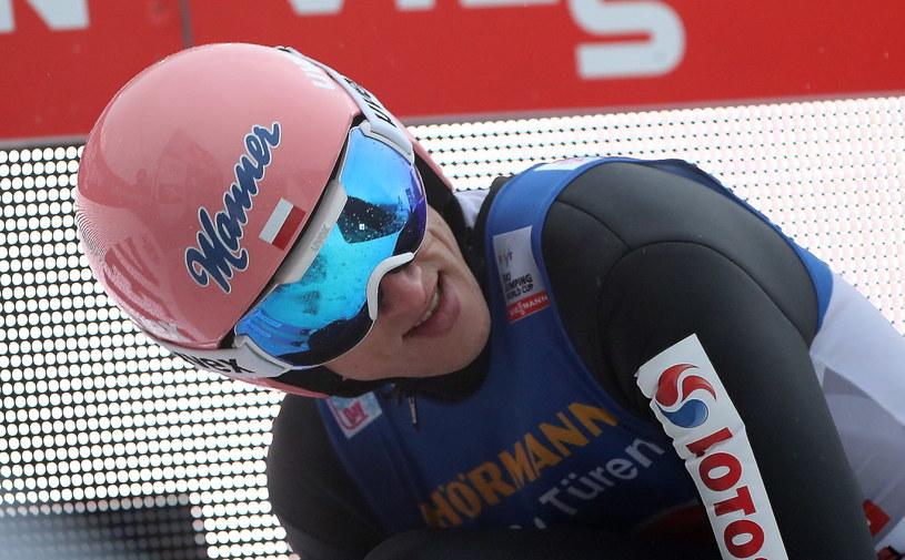 Dawid Kubacki podczas Turnieju Czterech Skoczni w Innsbrucku / Grzegorz Momot    /PAP