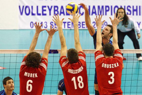 Dawid Murek (z lewej) podczas meczu w 2008 roku. /AFP /AFP