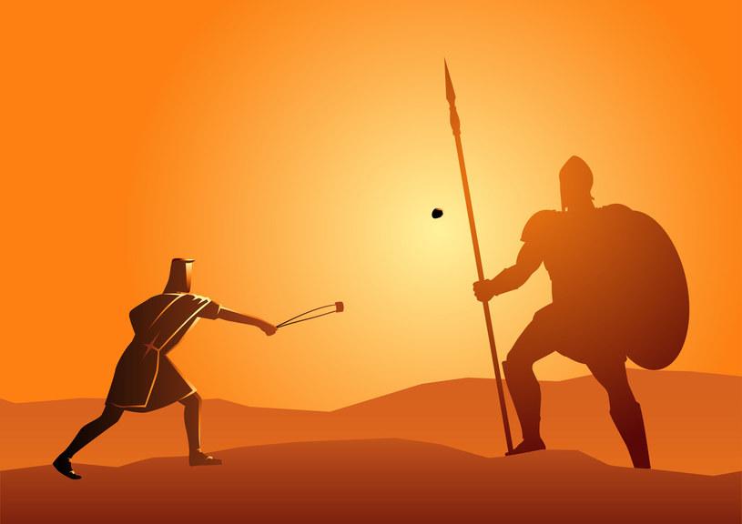 Dawid walczący z Goliatem /123RF/PICSEL