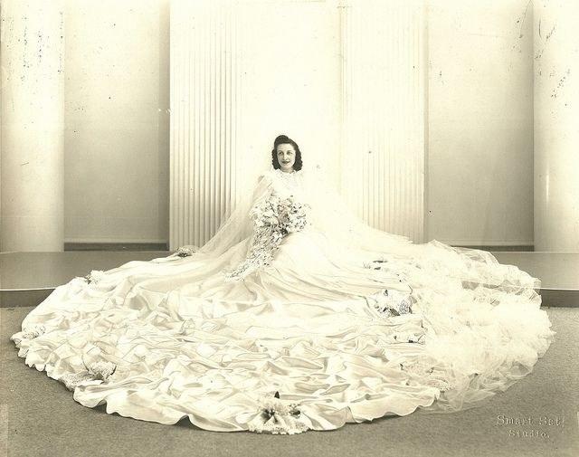 Dawna moda ślubna - 1940 /Agnieszka Lisak – blog historyczno-obyczajowy
