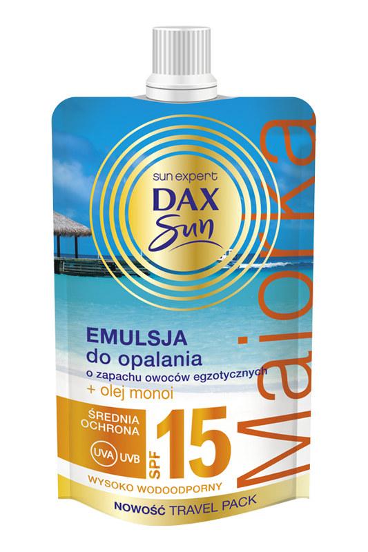 Dax Sun Emulsja do opalania o zapachu owoców egzotycznych SPF 15 /materiały prasowe
