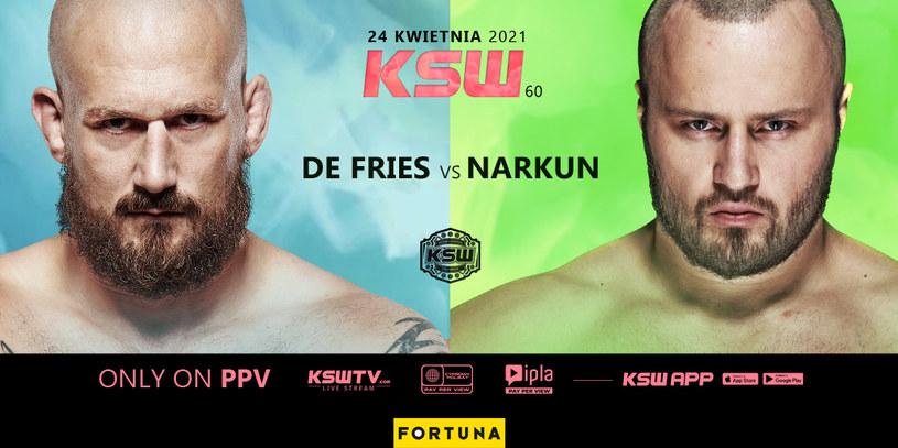 De Fries kontra Narkun /KSW /Polsat Sport