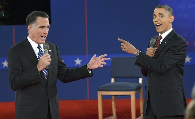 Debata Baracka Obamy i Mitta Romneya /PAP/EPA