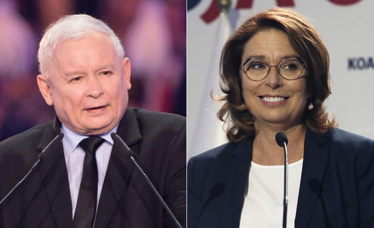 Debata Jarosława Kaczyńskiego (fot. Wojtek Jargiło) z Małgorzatą Kidawą-Błońską (fot. Tomasz Gzell) nie ma sensu – uważa Jacek Sasin /PAP