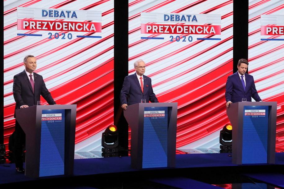 Debata kandydatów na prezydenta RP przed pierwszą turą wyborów /Paweł Supernak /PAP