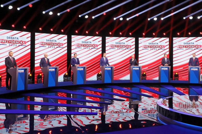 Debata kandydatów na prezydenta RP. / Paweł Supernak   /PAP