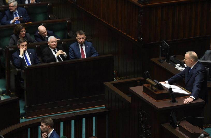 Debata nad wnioskiem o odwołanie marszałka Sejmu /Radek Pietruszka /PAP