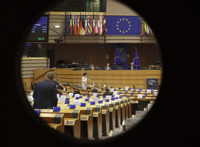 Debata o Polsce w Parlamencie Europejskim /OLIVIER HOSLET /PAP/EPA