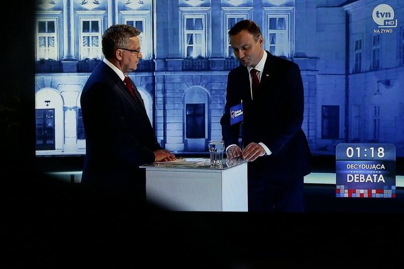 Debata prezydencka między Andrzejem Dudą i Bronisławem Komorowskim, maj 2015 r. /Marcin Borkowski /East News
