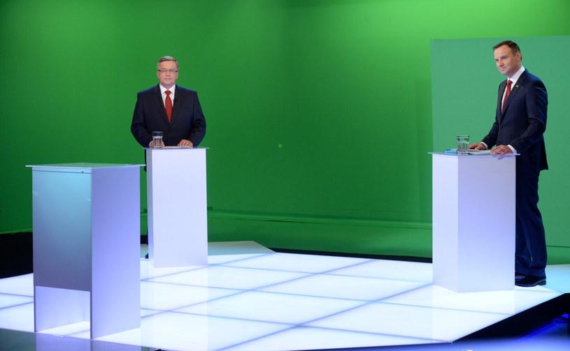 Debata prezydencka w TVN /Jacek Turczyk /PAP