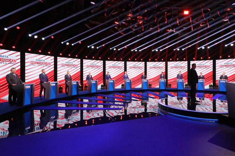 Debata prezydencka w TVP /Paweł Supernak /PAP