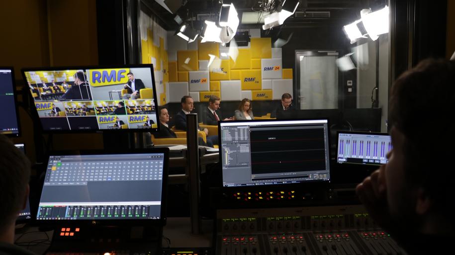 Debata przedwyborcza. Studio RMF FM /Karolina Bereza /RMF FM