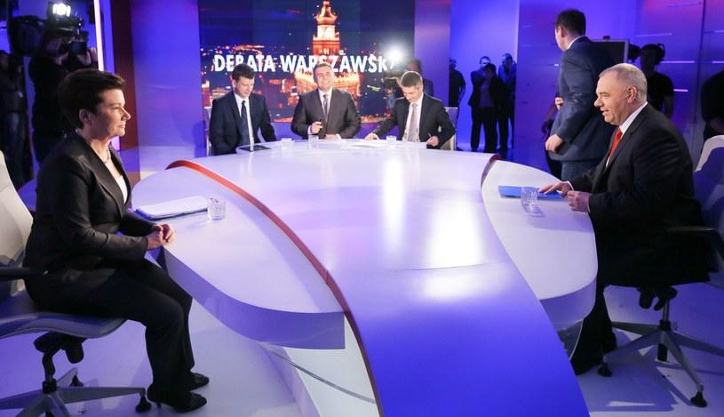 Debata Sasin kontra Gronkiewicz-Waltz odbyła się w sobotę /Paweł Supernak /PAP