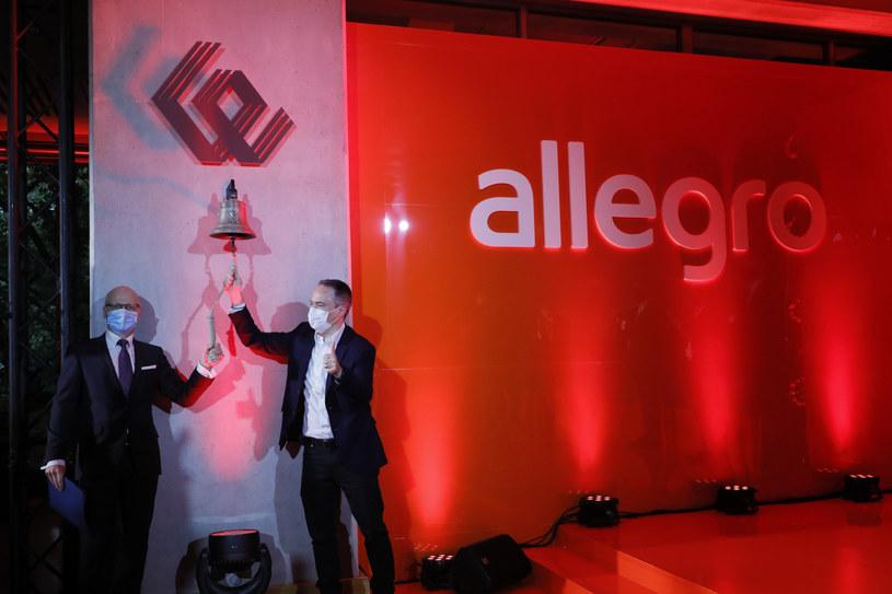 Debiut Allegro.eu na warszawskiej giełdzie /Piotr Molecki /Agencja SE/East News