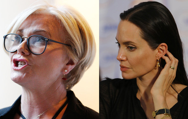 Deborra-Lee Furness, Angelina Jolie /Brendon Thorne /Getty Images