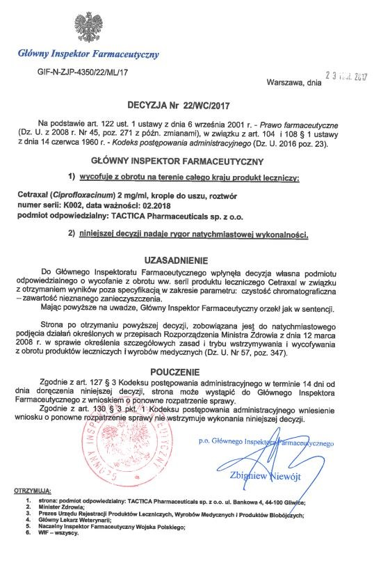 Decyzja GIF /gif.gov.pl /Materiały prasowe