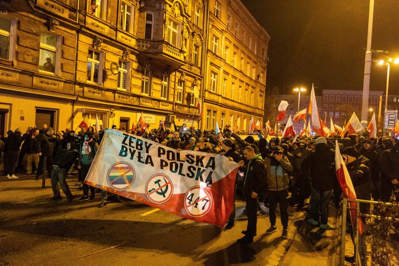 Decyzją urzędników marsz narodowców we Wrocławiu został rozwiązany /Krzysztof Kaniewski/REPORTER /Reporter